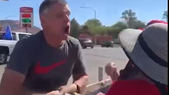 Video shows man coughing on protesters yelling 'Black don't matter'