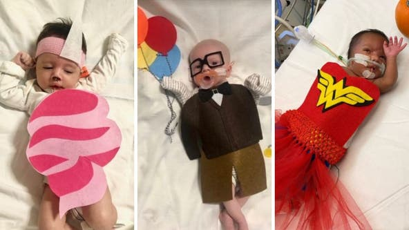 NICU babies at Children's National Hospital dress up for first Halloween