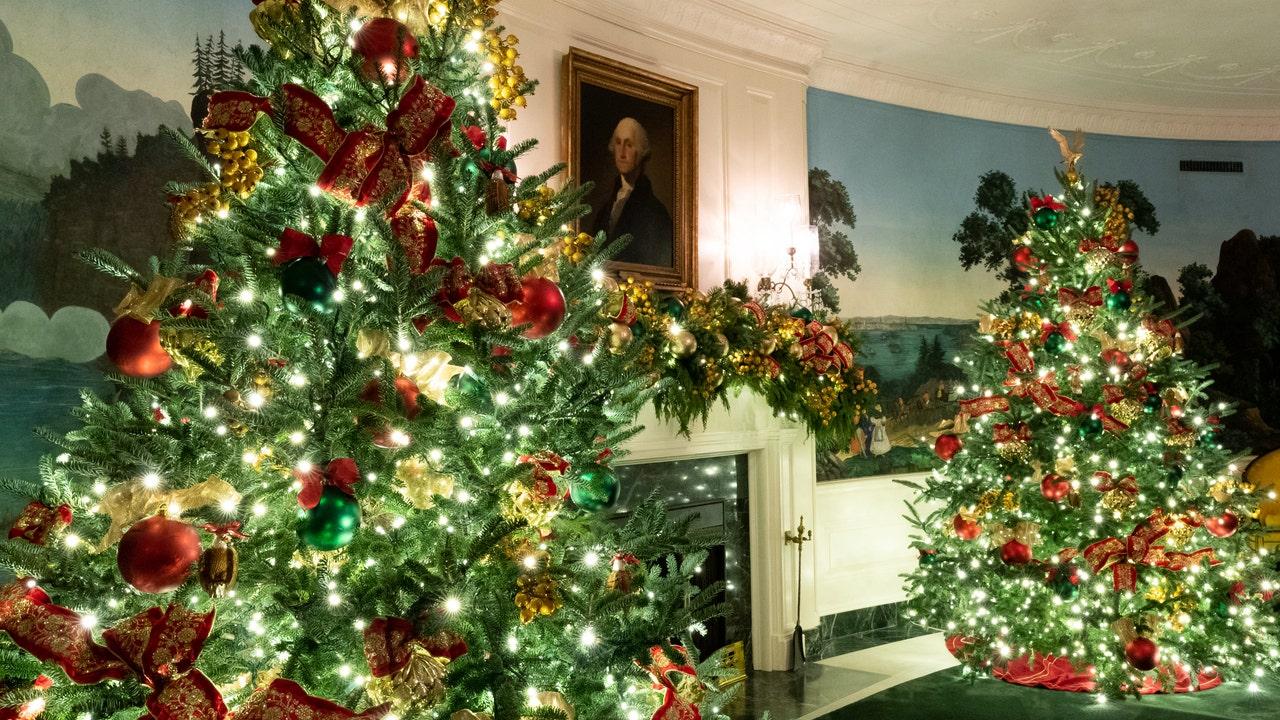 White House Christmas 2021 Skulls Photos White House Unveils 2020 Christmas Decor