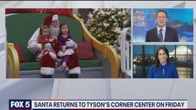 Santa returning to Tysons Corner this Friday