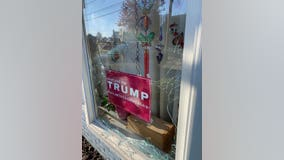 Rockville woman says someone smashed her window where 'Maryland for Trump' sign was displayed