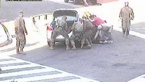 Dramatic video shows Marines in DC rescue woman trapped under car