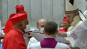 Pope elevates 13 new cardinals, including first African-American, in ceremony marked by COVID
