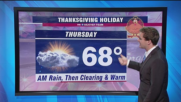 Cloudy, cool Wednesday; Thanksgiving Day morning showers with highs in the 60s
