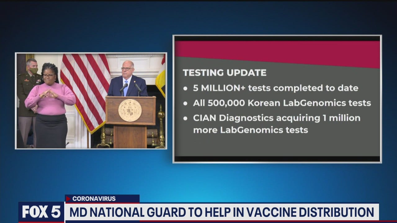 Maryland National Guard to help in vaccine distribution