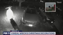 Vandal wrecks Christmas decorations