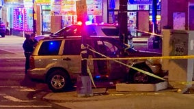 Man shot multiple times crashes car with baby inside into pole in DC, police say