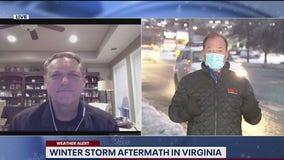 Winter storm aftermath in Virginia