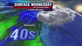 Chilly, cloudy Wednesday; scattered showers likely New Year's Eve