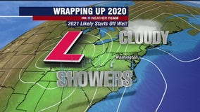 Sunny but cold Tuesday; New Year's showers likely