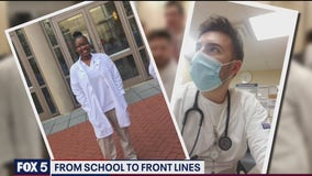 Medical, nursing school students heading from classroom to hospital amid pandemic