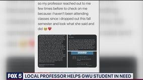 George Washington University professor helps pay student's rent amid pandemic