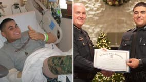 Marine vet whose legs were blown off in Iraq now is only 2nd double amputee police officer in US