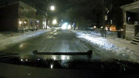 Slick, icy roads after overnight freezing; breezy, cold Thursday with highs in the 30s