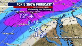 Snow storm forecast: DC region braces for midweek winter weather