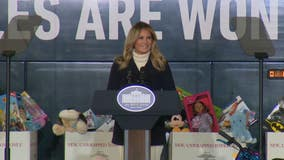 First lady Melania Trump urges kindness during holiday season clouded by pandemic
