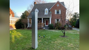Monolith mysteriously appears in DC man's front yard