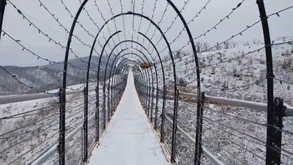 Gatlinburg's SkyBridge dusted with snow to create 'winter wonderland'