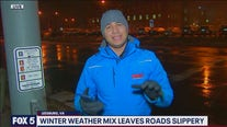 Winter weather mix leaves road slippery