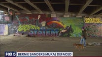 DC police investigating defaced Bernie Sanders mural as a potential hate crime