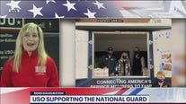 USO supporting National Guard troops