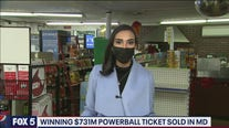 Winning $731M Powerball ticket sold in Maryland