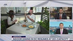 DC indoor dining resumes at 25% capacity