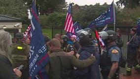 Pro-Trump demonstrators break through gate at Governor Inslee's mansion
