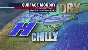Chilly, cloudy and dry Monday as winter threat passes south of DC region