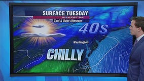 Sunny Tuesday with chilly temperatures in the 40s