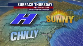Sunny, chilly and dry Thursday with temperatures in the 40s