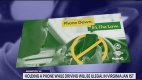 Holding phone while driving now illegal in Virginia