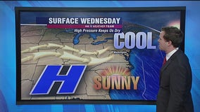 Sunny, chilly Wednesday with highs near 50 degrees