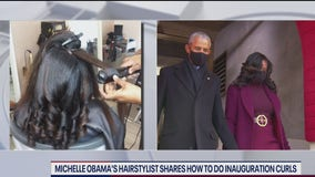 Michelle Obama's hairstylist shows how to do inauguration curls