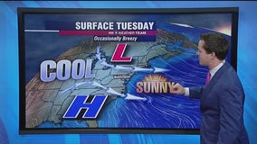 Sunny, cool Tuesday; windy and cold inauguration day