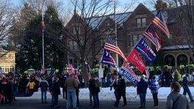 Pro-Trump protesters gather outside Minnesota Capitol, Governor's mansion