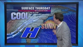Sunny, breezy Thursday with highs in the 50s