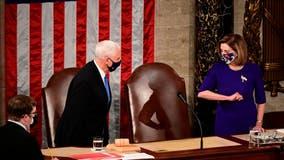 Pence, Pelosi share 'elbow bump' following Biden certification vote
