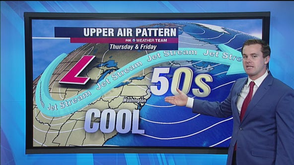 Cloudy and mild Thursday with highs in the 50s