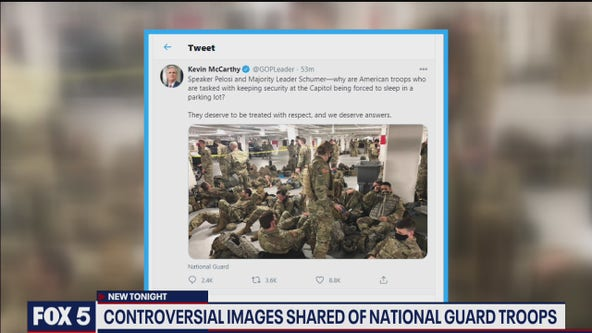 Controversial images shared of National Guard troops