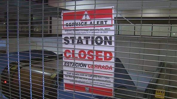 Metro closes more stations as DC security perimeter tightens ahead of inauguration