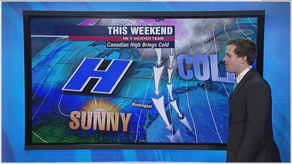 Chilly Friday with highs in the 40s; dry but cold weekend