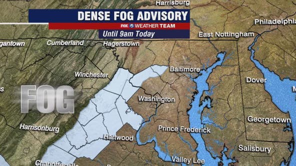 Dense fog, patchy ice could impact commute Wednesday; flurries possible Thursday