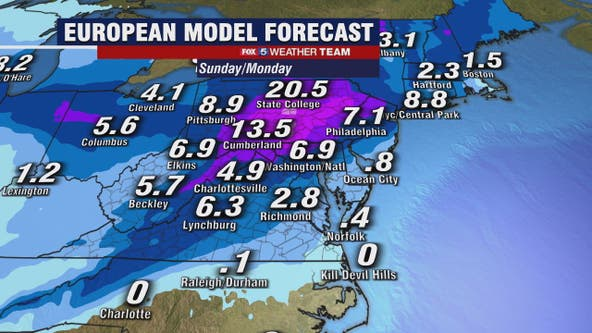How much snow? Devil in the details for possible winter storm Sunday and Monday