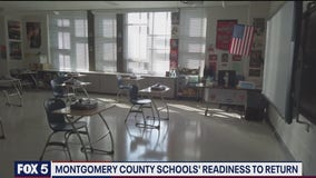 FOX 5 cameras tour a Montgomery County middle school a week before students are set to return