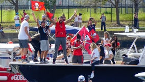 Boat parade for Super Bowl champion Buccaneers
