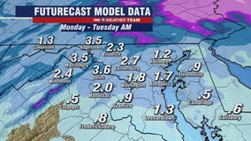 Freezing mist, light snow across parts of DC region make for messy Monday morning commute
