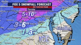 Winter storm to bring snow, ice to DC region Thursday