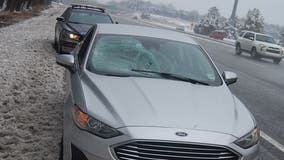 Smashed windshield prompts Virginia State Police to issue warning about clearing snow