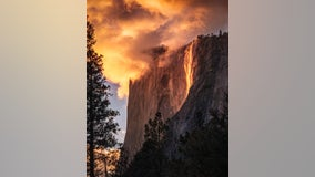 'Magic of mother nature': Yosemite's 'firefall' illuminates El Capitan